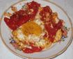 Яичница с помидорами